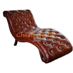 Chesterfield divan soffa, schäslong