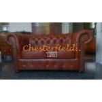 Klassisk Chesterfield 2+1+1 soffgrupp whisky (C12)i färg helt i äkta skinn