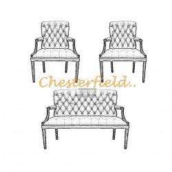 Välj egen färg och beställ King Chesterfield 2+1+1 soffgrupp
