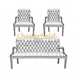 Välj egen färg och beställ King Chesterfield 3+1+1 soffgrupp