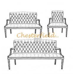 Välj egen färg och beställ King Chesterfield 3+2+1 soffgrupp