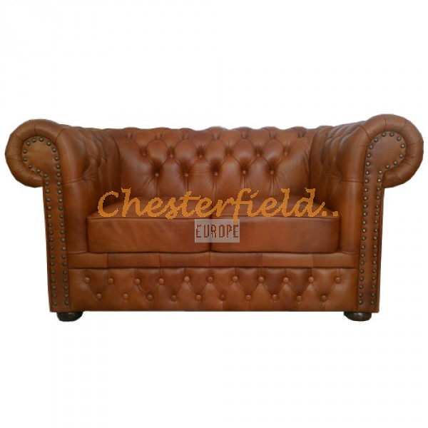 Lord Chesterfield 2 sits soffa (C12) whisky i färg helt i äkta skinn