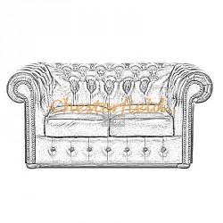 Välj egen färg och beställ Klassisk Chesterfield 2 sits soffa