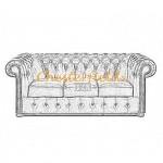 Välj egen färg och beställ Klassisk Chesterfield 3 sits soffa