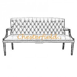 King Chesterfield 3 sits soffa