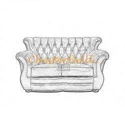 Välj egen färg och beställ Monk Chesterfield 2 sits soffa