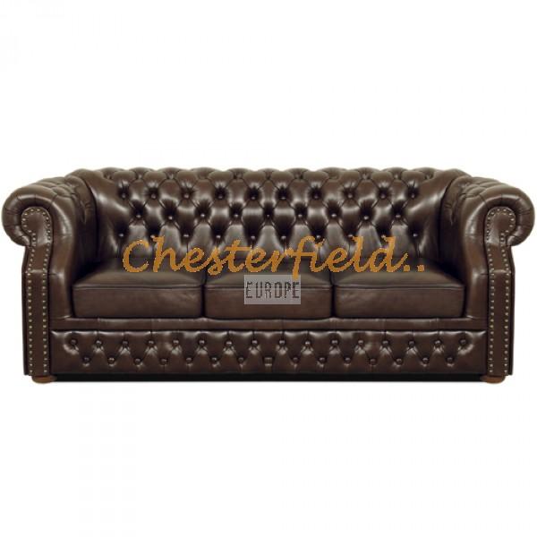 Windsor Chesterfield 3 sits soffa (A5) brun i färg helt i äkta skinn