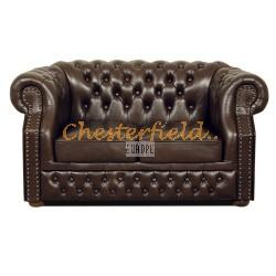 Windsor Chesterfield 2 sits soffa (A5) brun i färg helt i äkta skinn