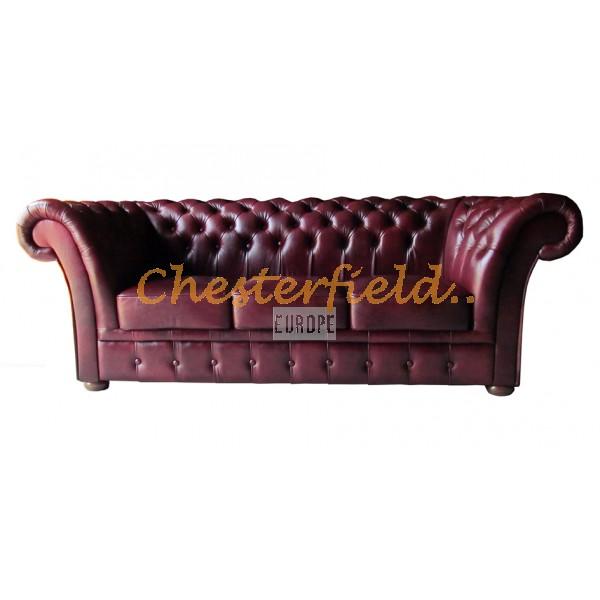 Windchester Chesterfield 3 sits soffa (A7) oxblod i färg helt i äkta skinn