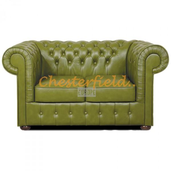 Mark Chesterfield 2 sits soffa (S14) olivgrön i färg helt i äkta skinn