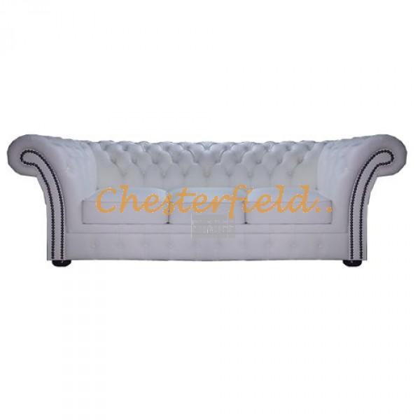 Windchester Chesterfield 3 sits soffa (K1) vit i färg helt i äkta skinn