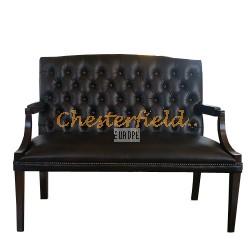 King Chesterfield 2 sits soffa (A5) brun i färg helt i äkta skinn