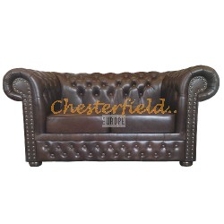 Lord Chesterfield 2 sits soffa (A5) brun i färg helt i äkta skinn