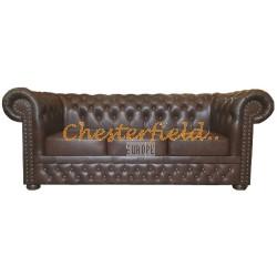 Lord Chesterfield 3 sits soffa (A5) brun i färg helt i äkta skinn