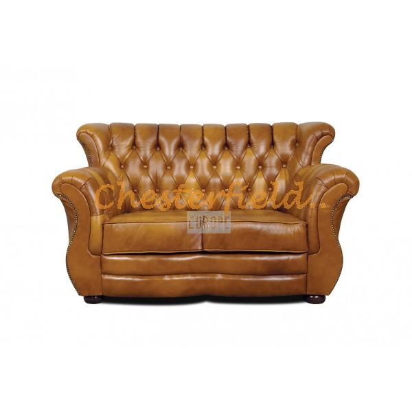 Monk Chesterfield 2 sits soffa (S12) guld i färg helt i äkta skinn