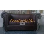 London  Chesterfield 2 sits soffa (A5) brun i färg helt i äkta skinn