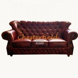 MonkB Chesterfield 3 sits soffa oxblod (A7) i färg helt i äkta skinn