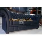 Windchester Chesterfield 3 sits soffa (K70) svart i färg helt i äkta skinn