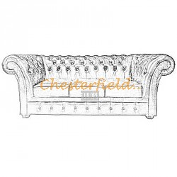 Windchester Chesterfield 3 sits soffa