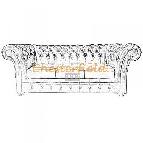 Välj egen färg och beställ Windchester Chesterfield 3 sits soffa