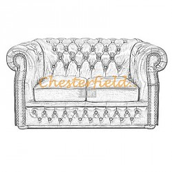 Windsor Chesterfield 2 sits soffa