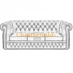 Windsor Chesterfield 3 sits soffa
